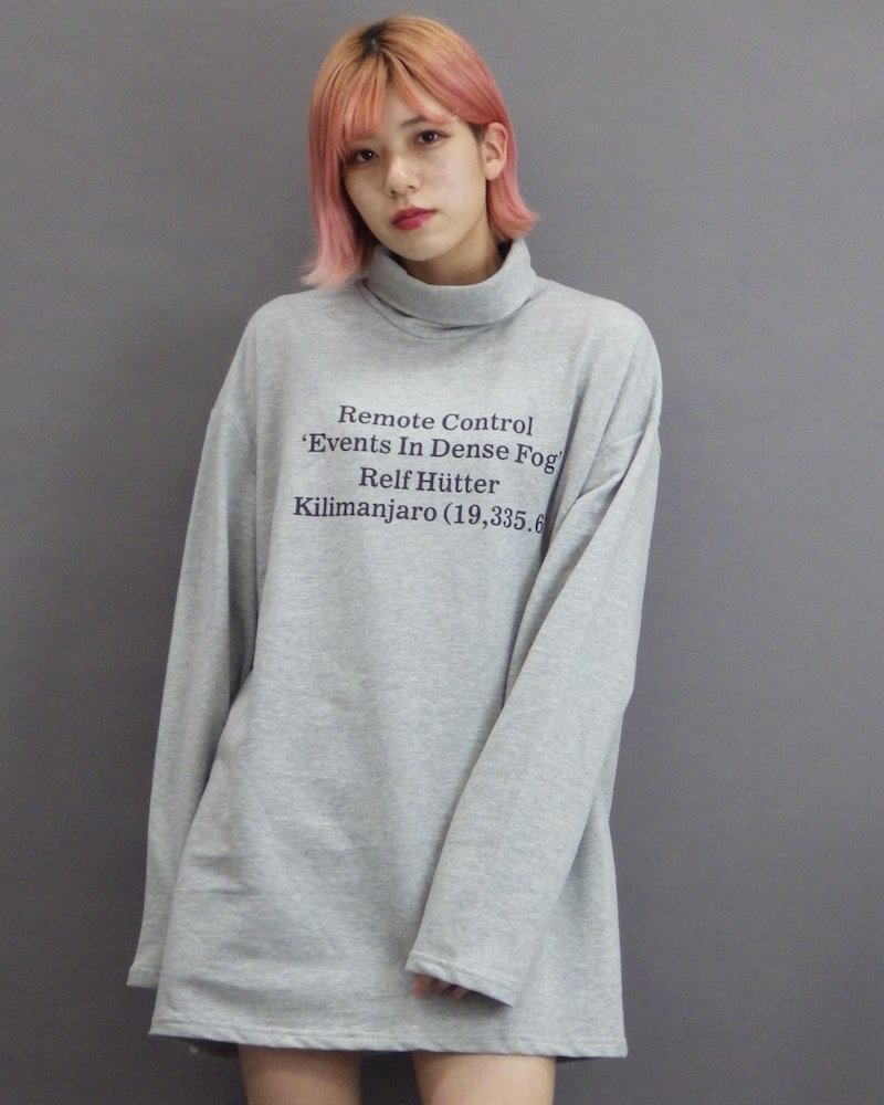 オーバーサイズ&ストリート『Re:one Online Store』「1:24」Message turtle gray cut and sew