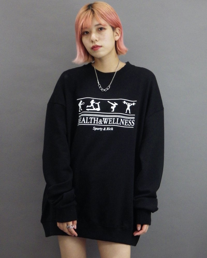 オーバーサイズ&ストリート『Re:one Online Store』「1:24」Training black sweatshirts