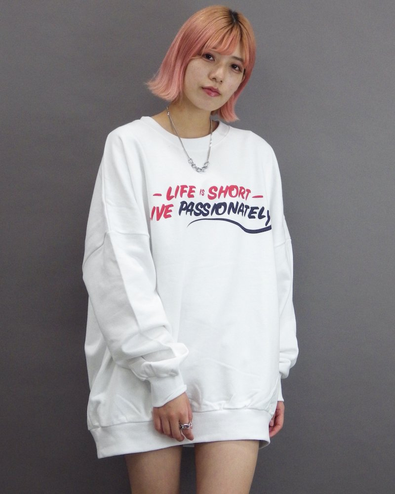 オーバーサイズ&ストリート『Re:one Online Store』「CAMP」Big real white sweatshirt