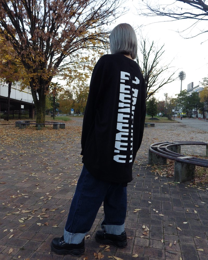 「EDDEN」Back line logo black cut and sew コーデイメージ(3)