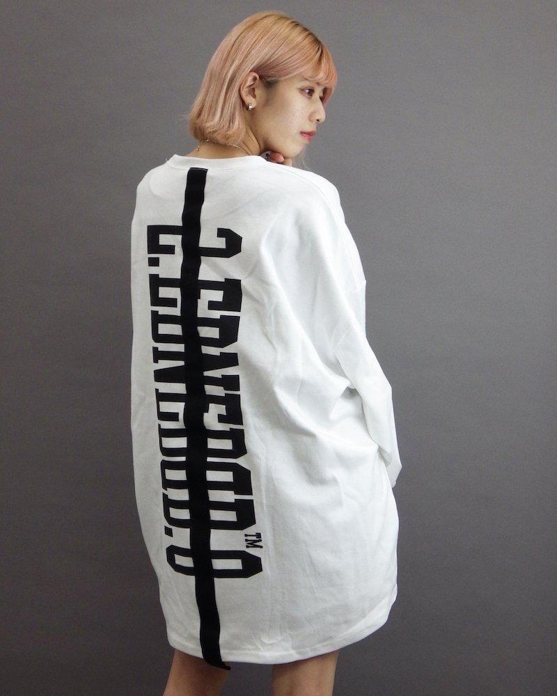 オーバーサイズ&ストリート『Re:one Online Store』「EDDEN」Back line logo white cut and sew