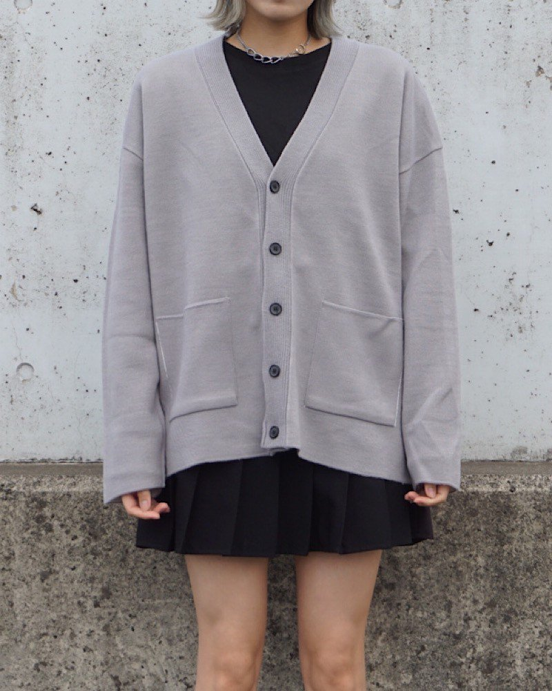 【And More】Basic gray cardigan-GRAY-