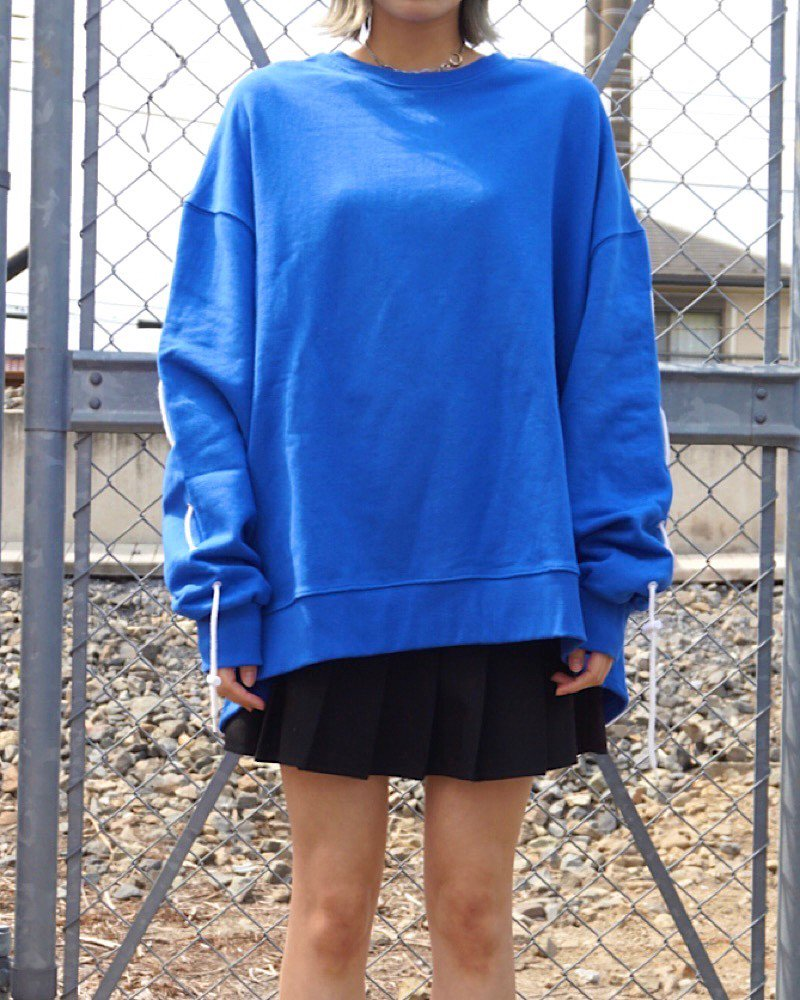 「EDDEN」SLEEVES STRING  BLUE SWEAT