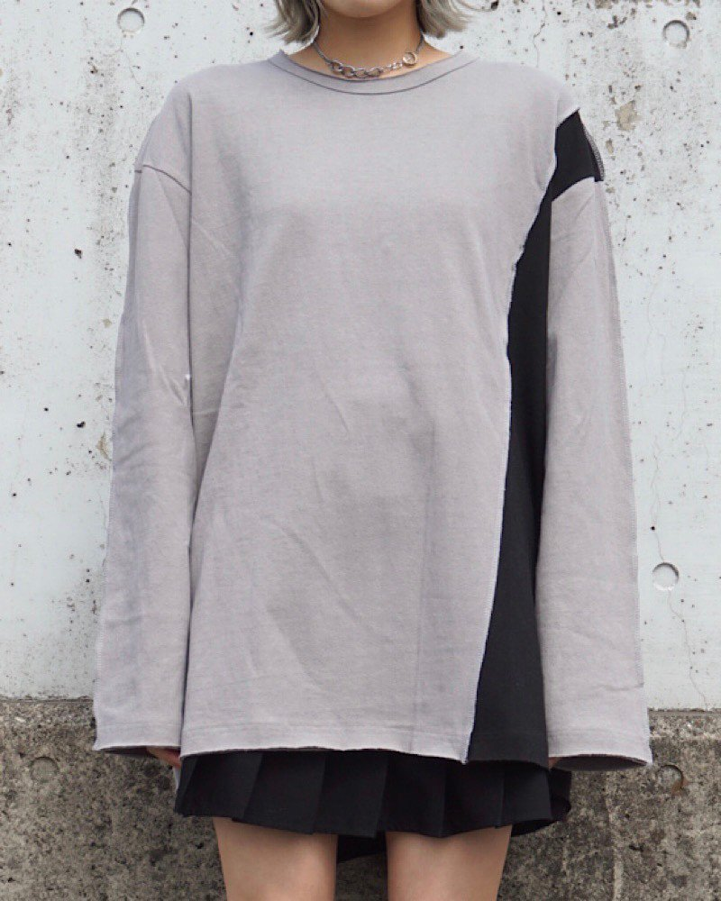 【PEACE】PATCH L/S CUTSEW -GRAY-