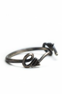 925 Silver Logo Bangle(Smoke)
