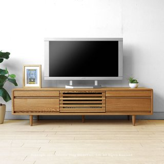 北欧テイストのテレビ台 タモ無垢材のテレビボード 人気シリーズ「CRUST」をタモ材のみで製作した限定色 幅150cm タモ材 タモ天然木 木製 角が丸い CRUST-150NN