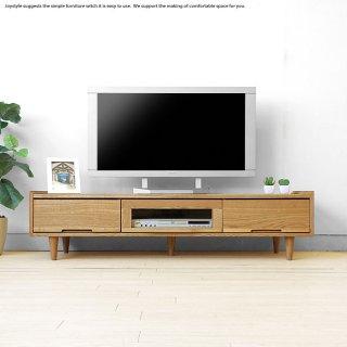 テレビ台 北欧 ナチュラル 木製 テレビボード 幅140cm ナラ材 ナラ無垢材 ローボード