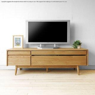 開梱設置配送 幅150cm 北欧モダン 北欧テイスト 丸みのある優しいデザイン ナラ無垢材 オイル仕上げ テレビ台 テレビボード