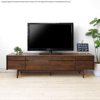アウトレット撮影品処分 テレビ台 開梱設置配送 幅180cm ウォールナット材 立体的な前板デザイン テレビボード LEICESTER-TV180WN