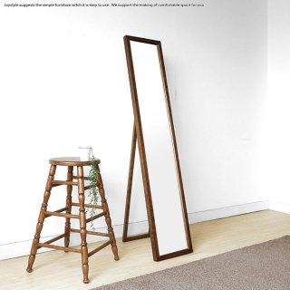 姿見ミラー 幅30cm高さ150cm タモ突板の木枠が高級感を演出するウォールミラー スタンドミラー