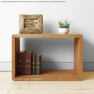オープンラック シェルフ 飾り棚  タモ無垢材 シンプル ナチュラル ダークブラウン 2色展開