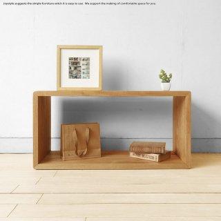 タモ無垢材 シンプル オープンラック シェルフ 飾り棚  フリーラック ナチュラル ダークブラウン 2色展開