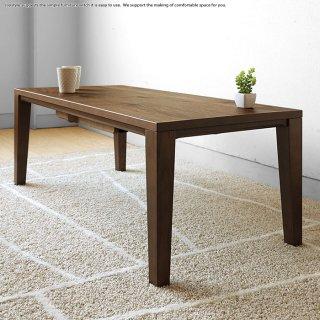 こたつテーブル ローテーブル リビングテーブル 木製 ウォールナット材 幅110cm シングル毛布と組み合わせできる スタイリッシュ