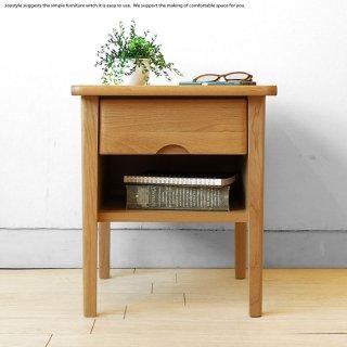 アルダー材 アルダー無垢材 ナチュラルテイスト 収納棚付き ナイトチェスト ナイトテーブル サイドテーブル