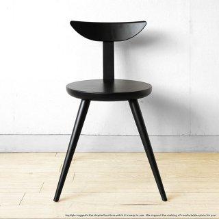 ダイニングチェア ブナ材 ブナ無垢材 木製 板座 椅子 ブラック色 モノトーン ナチュラルモダンテイスト