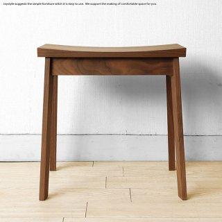 受注生産商品 ウォールナット材 ウォールナット無垢材 コンパクト 座面が歪曲した芸術的なデザイン スツール オーダースツール ナラ材 メープル材 ブラックチェリー材
