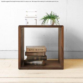 オープンラック シェルフ 飾り棚 オーディオラック サイドテーブル Sサイズ ウォールナット材