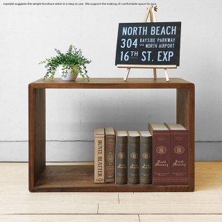 オープンラック シェルフ 飾り棚 オーディオラック サイドテーブルになるフリーラック Mサイズ ウォールナット材 ウォールナット無垢材 シンプル