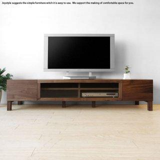 開梱設置配送 幅164cm ウォールナット材 ウォールナット無垢材 木製テレビ台 和モダンテイスト シンプルモダンデザイン ローボード テレビボード