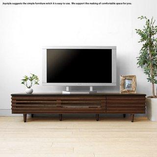 テレビ台 格子状の前板デザインがオシャレでかっこいいテレビボード ウォールナット色 開梱設置配送 幅150cm アルダー材 木製
