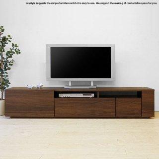 テレビボード テレビ台 開梱設置配送 幅180cm ウォールナット色 和モダンテイスト 収納力があるシンプルモダンデザインのロータイプ