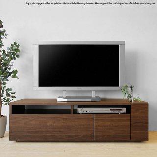 幅120cm ウォールナット色 和モダンテイスト 木製テレビ台 収納力があるシンプルモダンデザインのロータイプのテレビボード