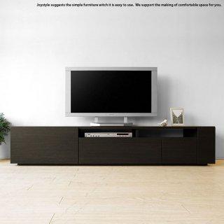 テレビ台 幅180cm ダークブラウン色 ブラック色  モノトーンコーディネート 収納力があるシンプルモダンデザインのロータイプのテレビボード