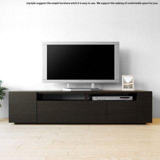 テレビ台 幅150cm ダークブラウン色 ブラック色 黒色 和モダンテイスト モノトーンコーディネート 収納力があるシンプルモダンデザインのロータイプのテレビボード