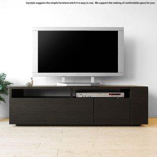 幅120cm ダークブラウン色 ブラック色モノトーンコーディネート 収納力があるシンプルモダンデザインのロータイプのテレビボード