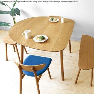 【受注生産商品】幅89cm 111cm 133cmの3サイズ ナラ材 ナラ無垢材 半楕円形状のかわいらしいダイニングテーブル カウンターテーブルとしても使用できます LIPO-DT