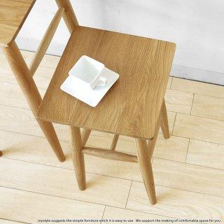 オーク材 幅29cm 四角形の板座のスツール テーブルスツール ハイスツール オーク無垢材 オーク天然木 木製椅子 ナチュラルテイスト 北欧テイスト