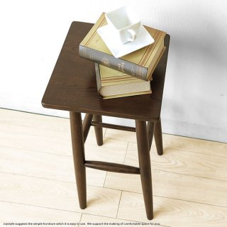 ※現在欠品中、次回入荷予定は10月中頃です。オーク材 幅29cm 四角形の板座のスツール テーブルスツール ハイスツール オーク無垢材 オーク天然木 木製椅子 北欧テイスト ダークブラウン