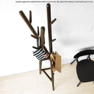 コートハンガー オーク材 オーク無垢材 樹木をモチーフにした遊び心あるデザインのハンガースタンド 帽子 鞄 コートを掛ける