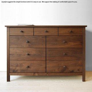 チェスト タンス 受注生産商品 幅120cm ウォールナット無垢材 木製  ウォールナット材のおしゃれなチェスト ※素材によって金額が変わります!