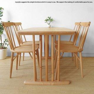 幅140cm 幅160cm 幅180cmの3サイズ  メープル材 メープル無垢材 メープル天然木 丸みのあるデザインのダイニングテーブル 二本脚(※チェア別売)