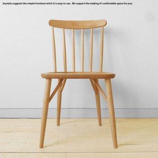 ダイニングチェア ウインザーチェア メープル材 メープル無垢材 メープル天然木 木製椅子 重さ4kgの軽量チェア ナチュラルな色合い
