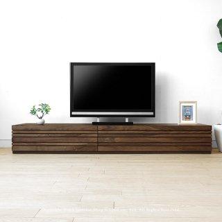 テレビ台 和モダンテイストなテレビボード 受注生産商品 幅150cm 180cm 210cm 240cmの5サイズ ウォールナット材 ウォールナット無垢材 木製 REGATO-TV210