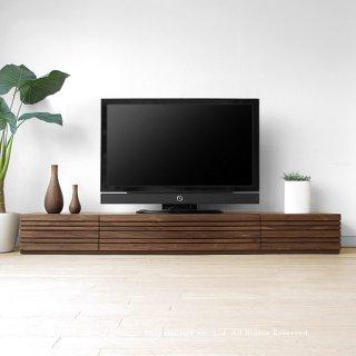 テレビ台 和モダンテイストなテレビボード 受注生産商品 幅150cm 180cm 210cm 240cm ウォールナット材 ウォールナット無垢材 木製 REGATO-TV240