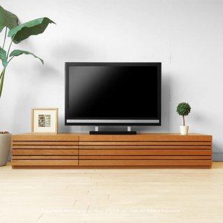 テレビ台 和モダンテイストなテレビボード 幅150cm 180cm 210cm 240cm ブラックチェリー材  REGATO-TV180