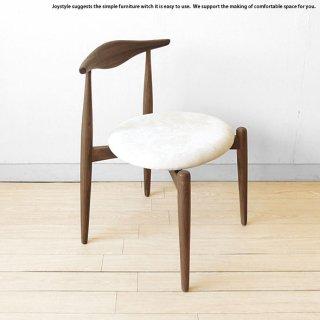 ウォールナット材 ウォールナット無垢材 天然木 木製椅子 スタッキングも出来るダイニングチェア 丸みのあるオシャレなスタッキングチェア