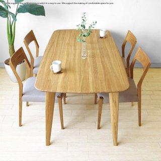 ダイニングテーブル 幅140cm・幅160cm・幅180cmの3サイズから選べる ナラ材 ナラ無垢材 ナラ天然木 珍しい三角形のテーパー脚が特徴(※チェア別売)