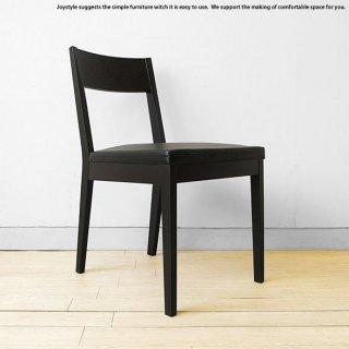 ※現在ブラック色欠品中、次回入荷未定です。ダイニングチェア タモ材 木製椅子 レザー張りで水汚れも拭き取るだけの簡単手入れ 黒色 ブラック色のシンプル