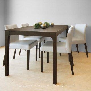 ダイニングテーブル 食卓 幅130cm 150cm オーク材 シンプルモダンデザイン ダークブラウン色(※チェア別売)