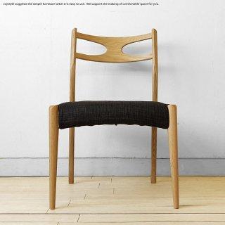 ダイニングチェア 北欧 オーク材 オーク無垢材 曲木 椅子 木製 ナチュラル カバーリングチェア カバーの下はPVC張り