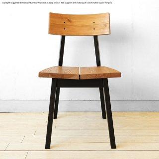 受注生産商品 杉材 杉無垢材 ビーチ材のブラック脚 ツートンカラー ナチュラルモダン ダイニングチェア 木製椅子
