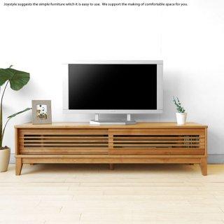 テレビボード テレビ台 幅160cm 120cmの2サイズ アルダー材 木製 格子扉 引き戸 和モダンテイスト