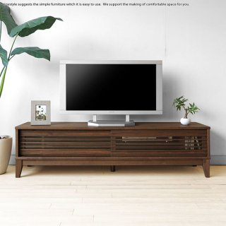 テレビボード テレビ台  幅160cm 120cmの2サイズ アルダー材ローボード 引き戸 和モダンテイスト