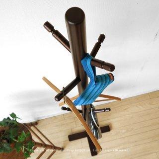 コートハンガー ハンガースタンド 場所を選ばず使用できる シンプルデザイン ラバー材 木の枝のようなデザイン ダークブラウン