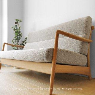 2Pソファ 2人掛けソファ 国産 ナラ材 ナラ無垢材 ナラ天然木 背面のデザインがきれいな木製ソファー カバーリングソファー SCANDIC-2P