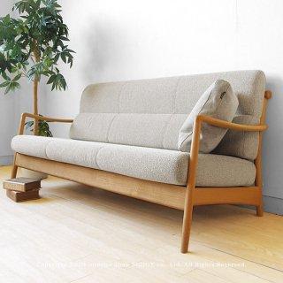 3Pソファ 3人掛けソファ 受注生産商品 北欧スタイルの国産ソファ ナラ材 ナラ無垢材 ナラ天然木 背面のデザインがきれいな木製ソファ カバーリングソファ SCANDIC-3P